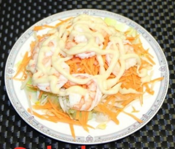 Salade aux crevettes 1