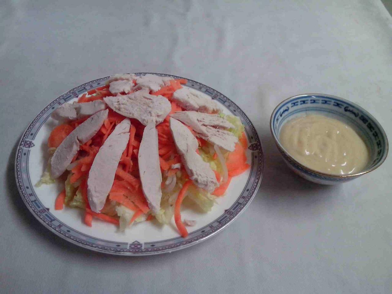 Salade blancs de poulet