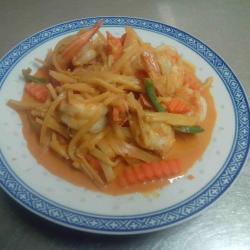 Crevettes au curry